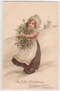 Christmas - Girl with Holly