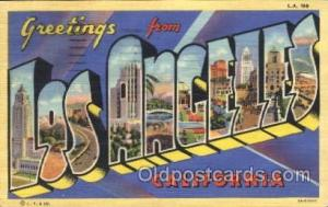 Los Angeles, California, Usa Large Letter Town, Towns, Postcard Postcards  Lo...