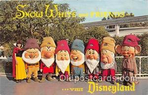Snow White & the Seven Dwards Disneyland, Anaheim, CA, USA Postcard Post Card...