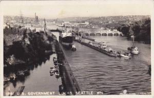 RP, Boats/Steamers, U. S. Government Locks, Seattle, Washington, 1930-1950s