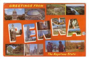 Thirteenview Collage, Greetings from  Keystone State, Pennsylvania