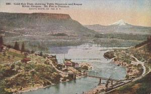 Oregon Gold Ray Dam Showing Table Mountain and Rogue River
