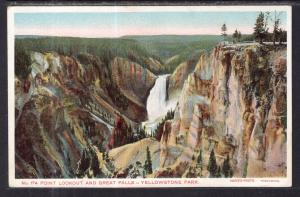 Point Lookout and Great Falls,Yellowstone National Park BIN