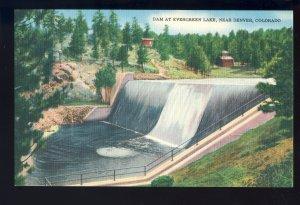 Denver, Colorado/CO Postcard, Dam At Evergreen Lake