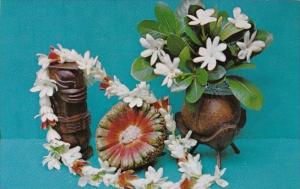 Tahiti Wreath Prepared With Tiare Tahiti and Epicarp From Fruit Of Pandanus 1972