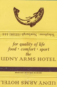 The Udny Arms Hotel Ellon Newburgh Scotland Pub Matchbox Label