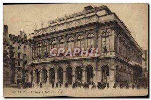 Old Postcard Lyon Grand Theater