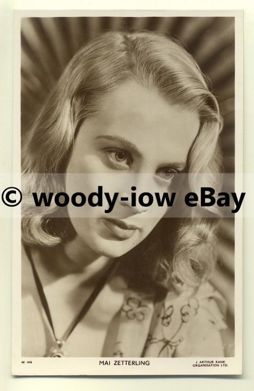b2217 - Film Actress - Mai Zetterling - postcard Picturegoer no W446
