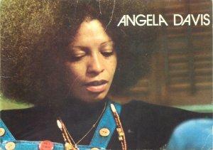 Postcard Actresses portrait Angela Davis