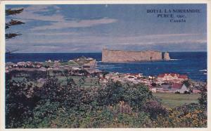 Hotel La Normandie, Perce Rock, PERCE, Quebec, Canada, 40-60's