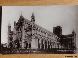 c1919 RPPC - St. Albans Cathedral S.W.