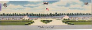 NORWICH, Ohio, PU-1952; Bi-Fold, Baker's Motel (Exterior)