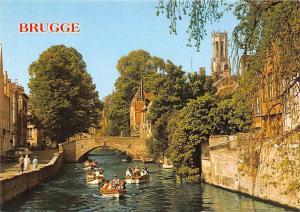 Belgium Brugge The Quai Vert Gruner Kai, Groene Rei Boats Bateaux Bridge
