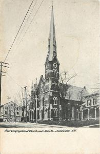 Middletown NY~Main Street~Francis & Hathaway~First Congregational Church~1905