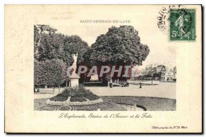 Old Postcard Saint Germain en Laye Esplanade Statue of Love and Madness