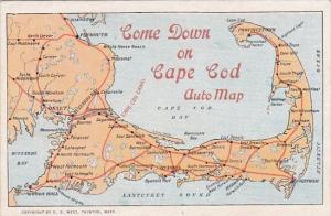 Come Down On Cape Cod Auto Map Taunton Massachusetts