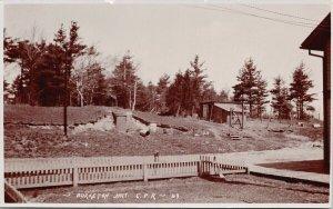 Burketon Junction Ontario CPR Unused J. White & Son RPPC Postcard F96