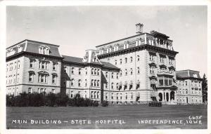 Independence IA Student Harriet Ann Works in Bldg C of Insane Hospital RPPC 1952