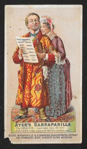 VICTORIAN TRADE CARD Ayer's Sarsaparilla Old Couple