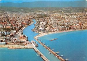 Italy Pescara Panorama e portocanale Aerial view Ship Boat