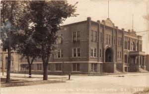F12/ Canton South Dakota Postcard RPPC c1920 IOOF Masonic Temple Gym