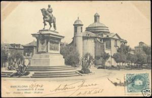 spain, BARCELONA, Monumento a Prim (1904) Stamp