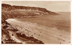 uk15597 carbis bay from the terrace st ives real photo  uk