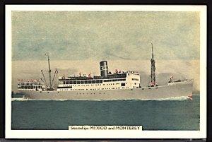SS Mexico & Monterey New York & Cuba Mail SS Co. Ship Ocean Liner Postcard
