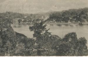 Kandy Lake from Wace Park Tucks Sri Lanka Postcard E11