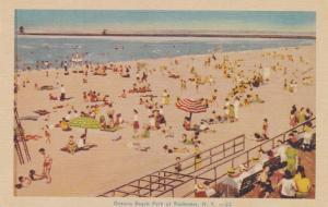 Sandy Beach at Ontario Beach Park - Charlotte, Rochester, New York - Linen