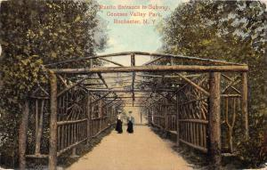 12452   NY  Rochester  1908  Genesee Valley Park    Rustic Entrance to Subway