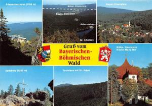 Boehmischen Wald, Arberschutzhaus Teufelsee mit Gr. Arber Spitzberg Kriche