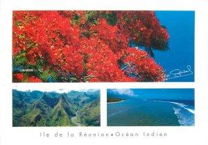 Reunion island Indian Ocean postcard
