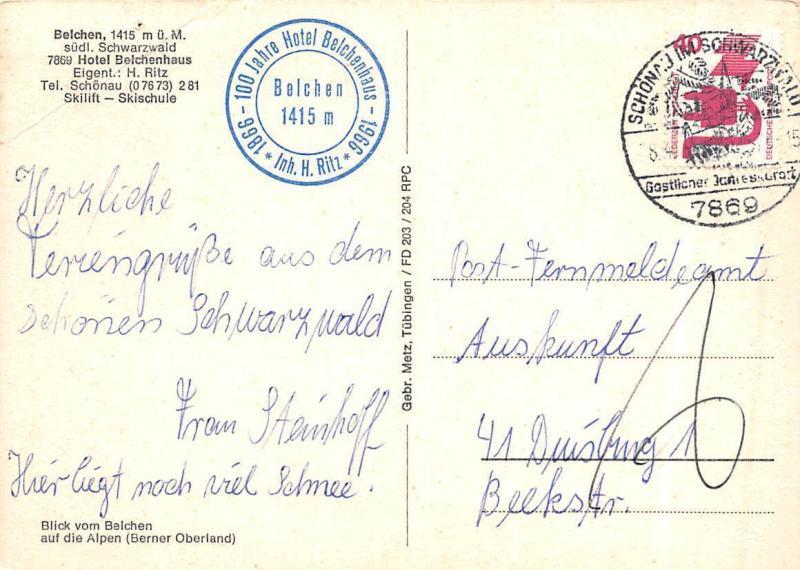 Belchen suedl Schwarzwald Hotel Belchenhaus Auto Vintage Cars Mountains