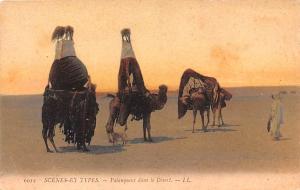 Egypt, Egypte, Africa Palanquins dans le Desert  Palanquins dans le Desert