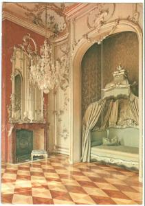Germany, Potsdam-Sanssouci, Neues Palais, The New Palace, Bedroom of Frederic II