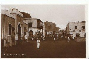 Yemen Postcard - Aden - The Crater Bazaar - Real Photograph - Ref ZZ5847