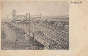 BRIDGEPORT , Ct. , 1901-07 ; Railroad Train Station