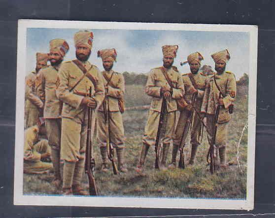 GERMANY TOBACCO CARD WWI 6x5 cms. SOLDIERS AAD5160