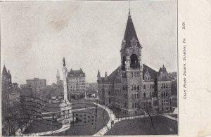 SCRANTON, Pennsylvania, PU-1907; Court House Square