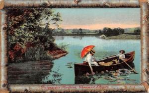Thousand Islands New York~Man & Woman in Row Boat~1912 Picturesque America PC