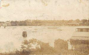 G22/ Sacket Harbor New York RPPC Postcard 1908 Ship House Point