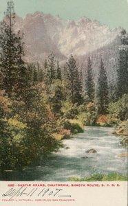 CALIFORNIA , 1901-07; Castle Crags, Shasta Route, S.P. Railroad