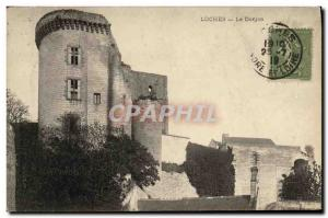 Old Postcard Loches Le Donjon
