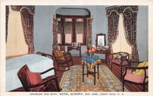 B70/ San Jose Costa Rica Central America C.A. Postcard  Hotel Europa Interior