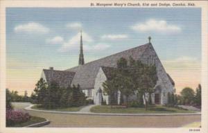 Church St Margaret Mary's Church 61st and Dodge Omaha Nebraska Curteich