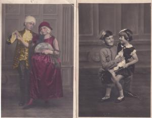Child Soldier With Girlfriend Actress Norwich Antique Theatre Postcard