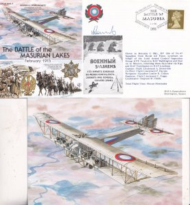 Battle Of Masurian Lakes Pilot Hand Signed WW1 Military FDC