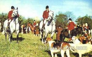 An English Hunting Scene, Hunting Postcard Postcards  English Hunting