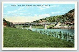 Lexington Kentucky~Brooklyn Bridge Iron Thru Truss Railroad Bridge~1920s